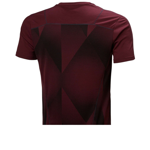 Helly Hansen Men's Lifa Active T Shirt - Port/Triangles