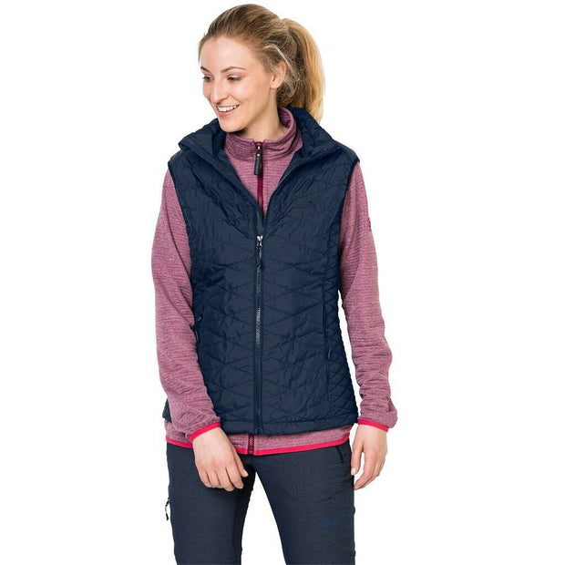 Jack Wolfskin Women's Glen Vest Quilted Gilet - Midnight Blue
