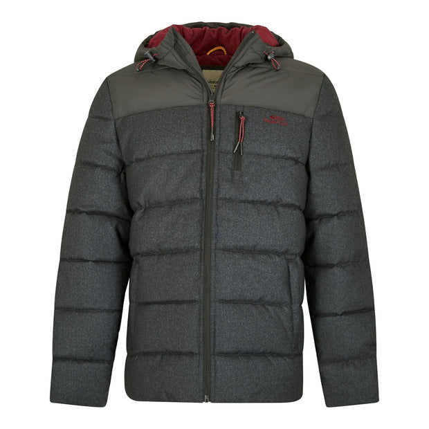 Weird Fish Men's Laurent 2-Tone Insulated Puffa Jacket - Charcoal