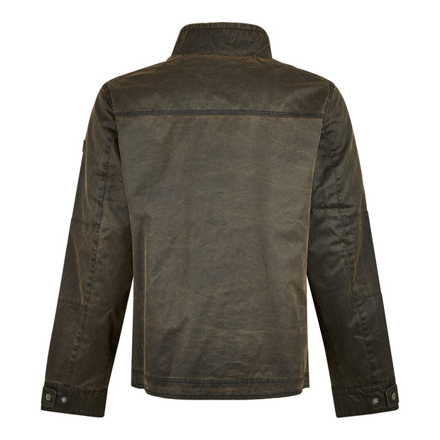 Weird Fish Men's Scandale Pigment Printed Jacket - Bark