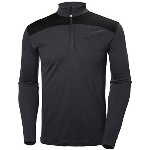 Helly Hansen Men's Merino Mid 1/2 Zip Thermal Top - Graphite