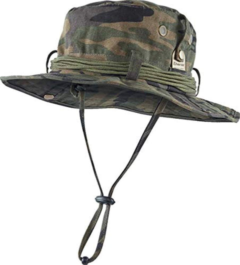 Trekmates Survival Hat - Camouflage Green