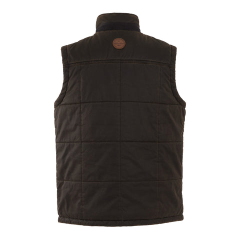 Weird Fish Men's Fitzroy Wadded Gilet - Bark