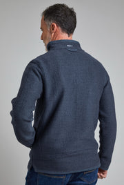 Weird Fish Men's Stern 1/4 Zip Eco Macaroni Top - Navy
