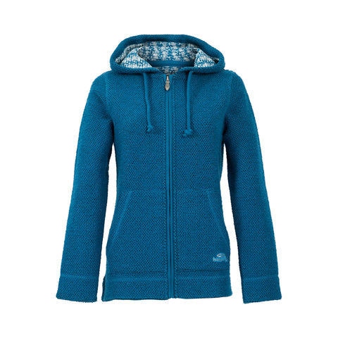 Weird Fish Women's Weylin Full Zip Eco Macaroni Hoodie - Storm Blue