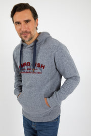 Weird Fish Men's Olten Branded Snow Marl Hoodie - Navy