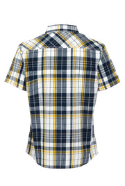 Weird Fish Men's Ennis Short Sleeve Check Shirt - Navy