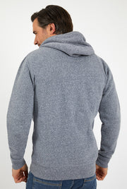 Weird Fish Men's Stans Branded Snow Marl Full Zip Hoodie - Navy