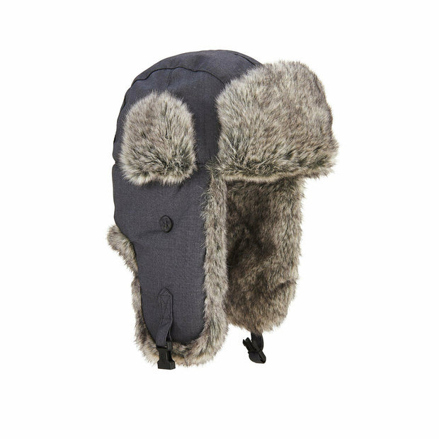 Extremities Ajo Faux Fur Lined Trapper Hat - Grey One Size