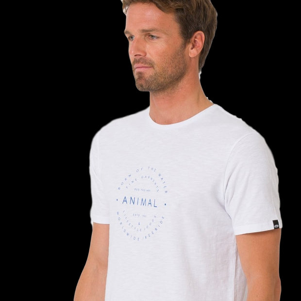 Animal Men's United Tee Crew Neckline Short-Sleeved Cotton T-Shirt