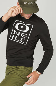 O'Neill Men's Lm Tonal Crew Sweatshirt - Black Out