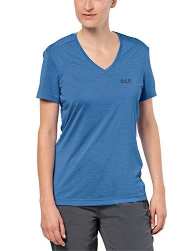 Jack Wolfskin Women's Crosstrail T-Shirt Damen, Lemon, Large