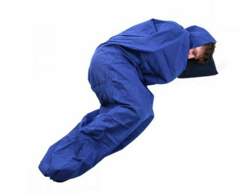 Trekmates Poly Cotton Sleeping Bag Liner - Mummy Blue
