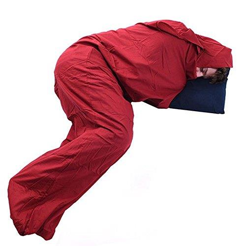 Trekmates Cotton Sleeping Bag Liner - Mummy Red