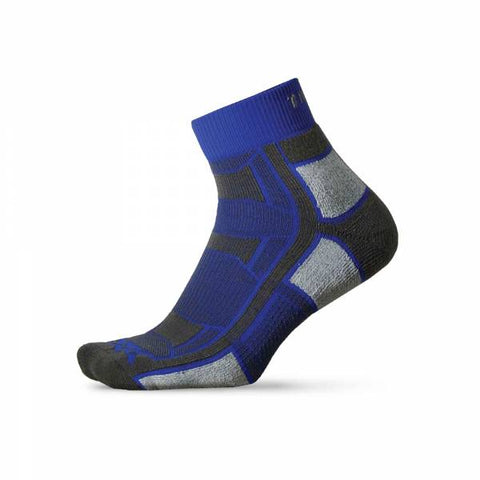 Thorlos OAQU Trail Running Lite Cushion Quarter Sock - Royal Thunder