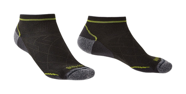 Bridgedale Men's Hike Ultralight Coolmax Performance Ankle Sock - Graphite/Lime