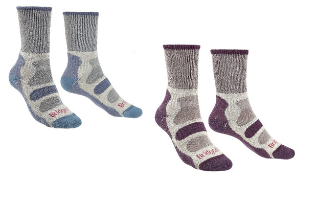 Bridgedale Women's CoolFusion Light Hiker Socks - Plum, 5-6.5