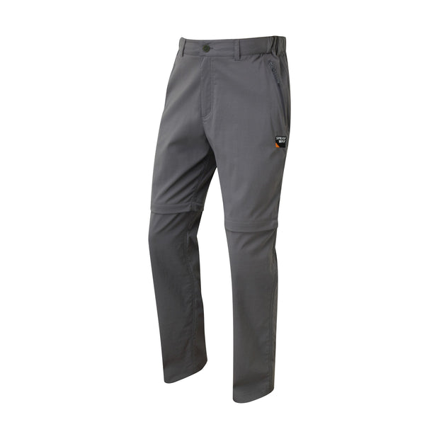 Sprayway Men's Compass Combi Convertible Walking Trousers (Reg Leg) - Carbon