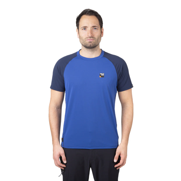 Sprayway Men's Tech Tee Hiking T-Shirt - Yukon/Blazer
