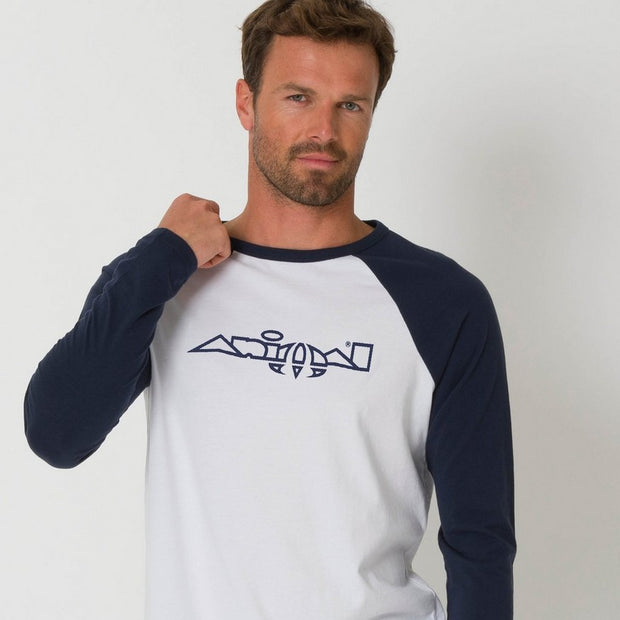 Animal Men's New Action Logo Long Sleeve T-Shirt - White