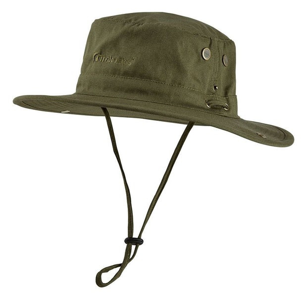 Trekmates Travel Wide Brim Bush Hat + Mosquito Head Net - Olive