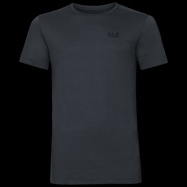 Jack Wolfskin Men's Rebel Lightweight Cotton T-Shirt Phantom