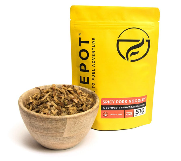 Firepot Healthy Dehydrated 1 Person Expedition Food - Spicy Pork Noodles