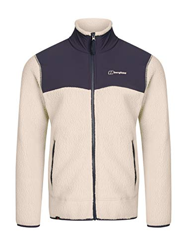 Berghaus Men's Syker Full Zip Fleece Jacket - Oatmeal/Dusk