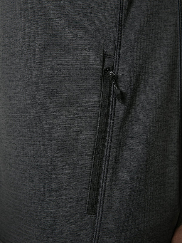 Berghaus Men's Spitzer Full Zip Fleece - Black/Dark Grey