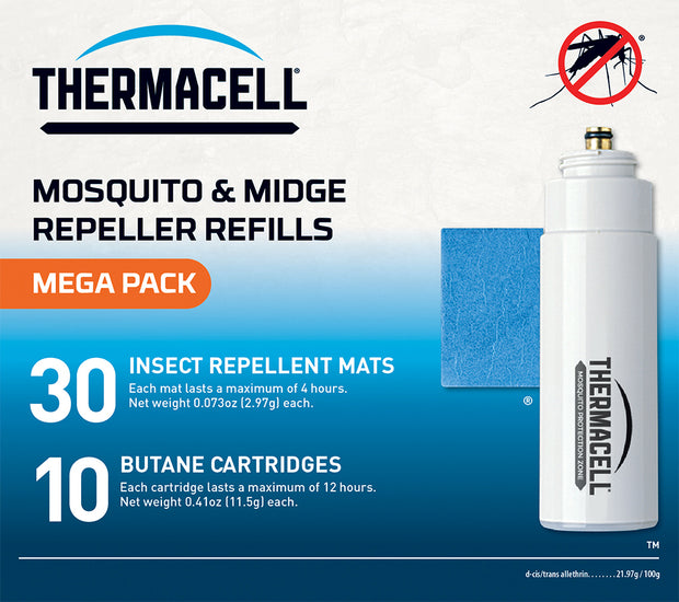 Thermacell Mosquito Repellent Refill Pack (Mats & Gas) - Mega
