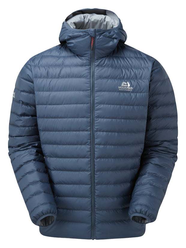 Mountain Equipment Men's Earthrise Recycled Hooded Down Jacket - Denim Blue