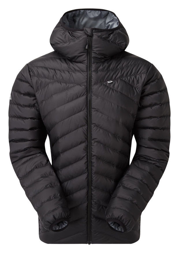 Mountain Equipment Women's Earthrise Recycled Hooded Down Jacket - Black
