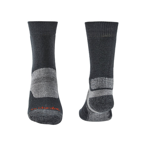 Bridgedale Men's Midweight Merino Performance Boot Sock (Trekker) - Grey
