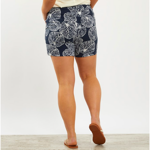 Weird Fish Women's Sundance Patterned Shorts - Dark Navy