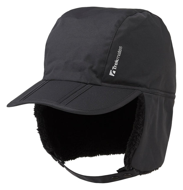 Trekmates Brinzlea Sherpa Fleece Lined Gore-Tex Trapper Hat - Black