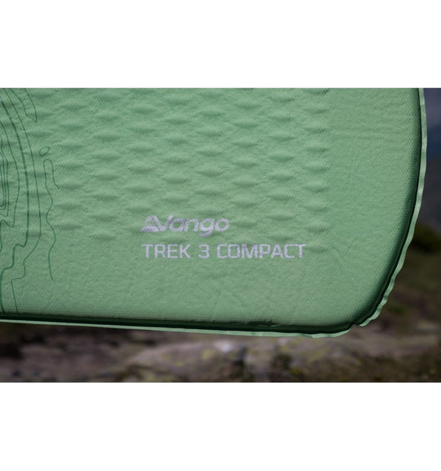 Vango New Trek 3 Compact Sleeping Camping Mat - Pamir Green