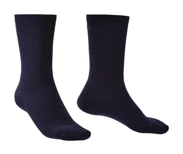 Bridgedale Base Layer Coolmax Liner Socks (2 Pairs) - Navy