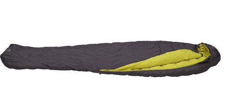 Terra Nova Elite 350 Lightweight Down Sleeping Bag - Charcoal/Lime