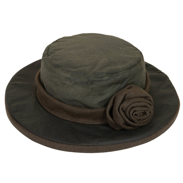Extremities Women's Longleat Wide Brim Wax Cotton Hat