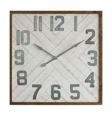 Wood & Metal Wall Clock - Local Pickup or Delivery Only