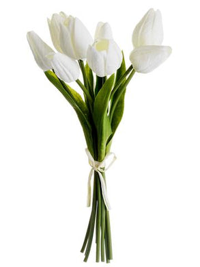 Soft Touch Tulip Bundle in White - 10