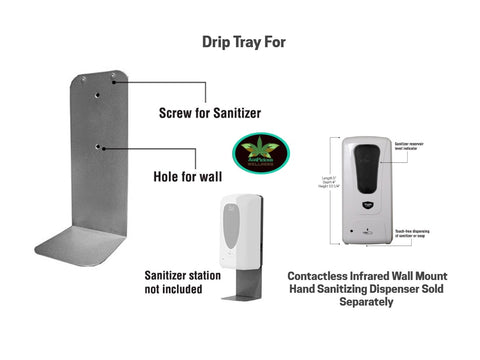 drip_tray_for_wall_mount_contactless_hand_sanitizer_dispenser
