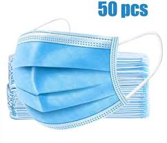 3 ply face mask 50 piece pack