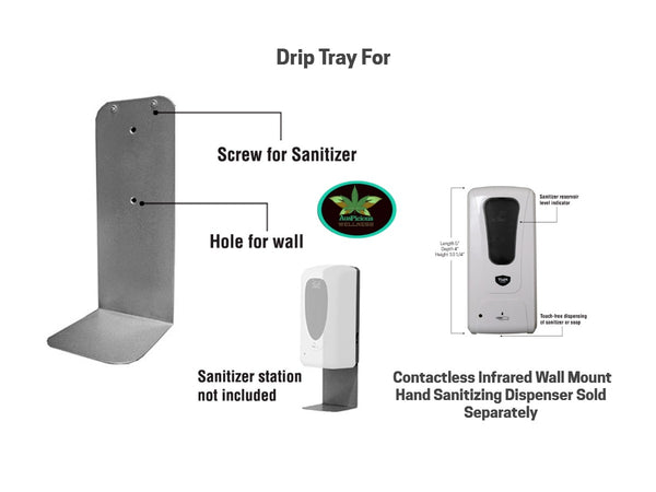 drip_tray_for _wall_mount_touchless_hand_sanitizer_dispenser
