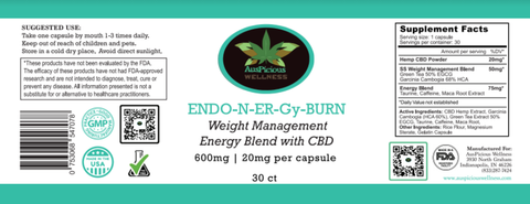 ENDO-N-ER-Gy Burn Weight Management Energy Blend With CBD