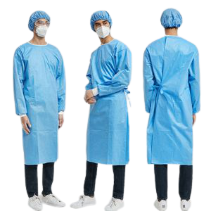 Level 2 Disposable Isolation Gowns ANSI/AAMI PB70:2012 Certified (100 Pieces) FDA Registered