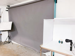photography product shot seamless background light box