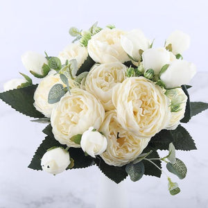 Amazing Artificial Flowers Artificial & Dried Flowers Kahaul Official Store White