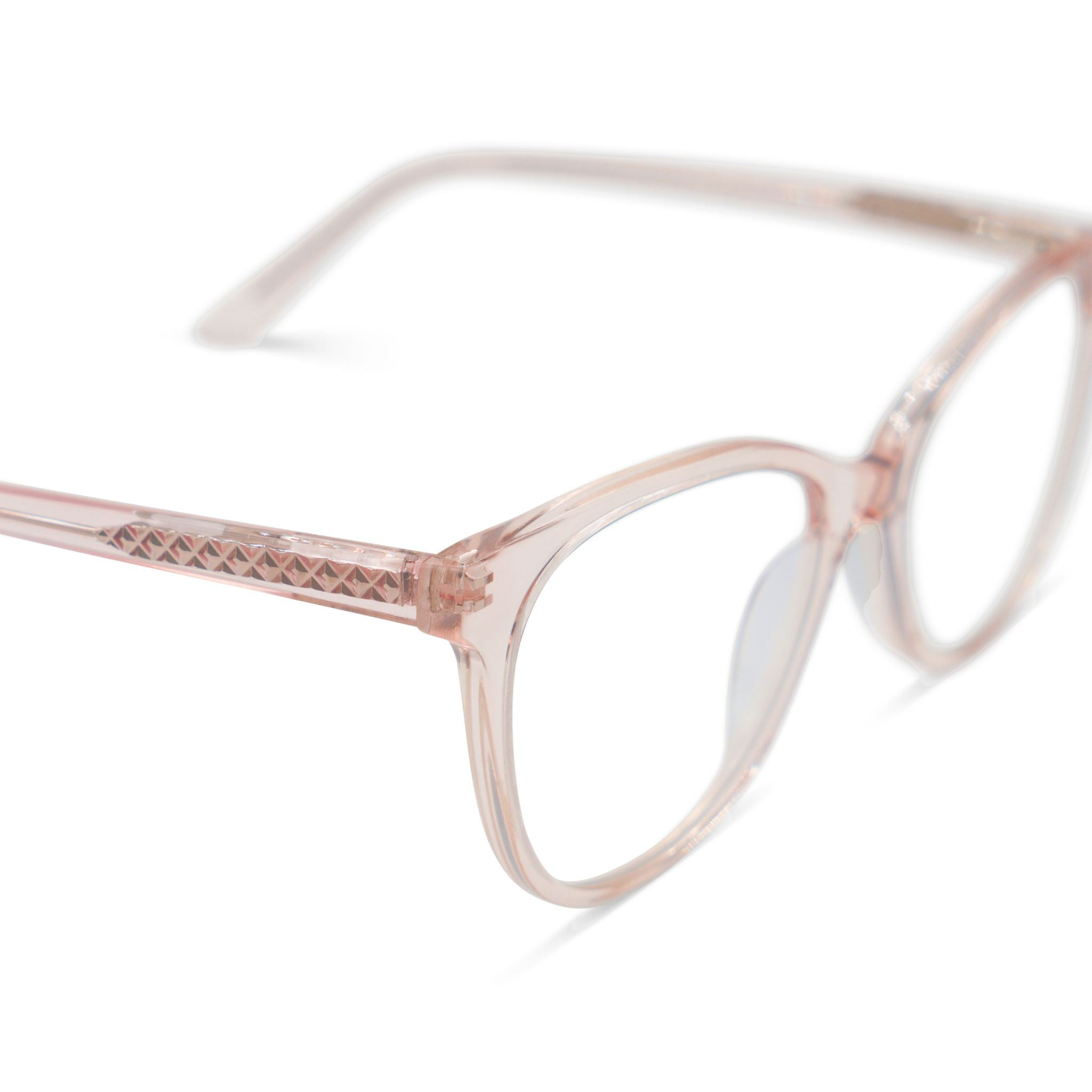 Passionate Pink Champagne Blue Light Blocking Glasses Empire&Co