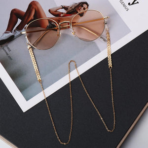 Women Fashion Pearls Sunglasses Chains Gold Eyeglasses Chains Sunglasses Holder Necklace Eyewear Retainer Accessories|Eyewear Accessories Eyewear Accessories Pinky House